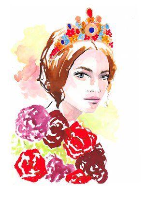 Dolce & Gabbana Fall 2017 Fashion Illustration by Stephanie Anne www.stephanieanne.ca