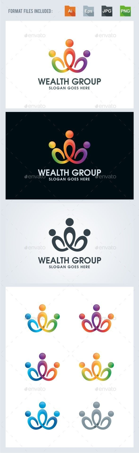 Wealth Group - Community Logo Template Vector EPS, AI. Download here: http://graphicriver.net/item/wealth-group-community-logo-template/12631396?ref=ksioks