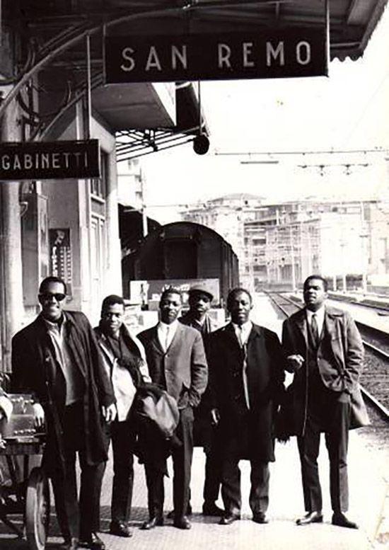 The Jazz Messengers - Cedar Walton, Curtis Fuller, Wayne Shorter, Reggie Workman, Art Blakey, and Freddie Hubbard, 1962.
