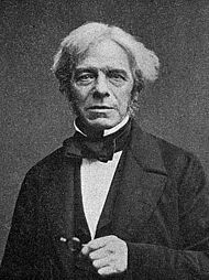 Michael Faraday, FRS (1791 – 1867) was an English scientist who contributed to the fields of electromagnetism and electrochemistry. His main discoveries include those of electromagnetic induction, diamagnetism and electrolysis.