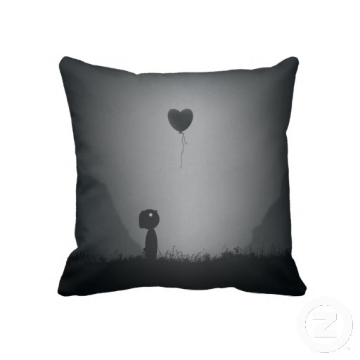 Lost Heart in Limbo Throw Pillows