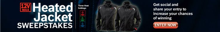 Enter to %23win a new 12V Max Heated Jacket in the Bosch Power Tools %23sweepstakes