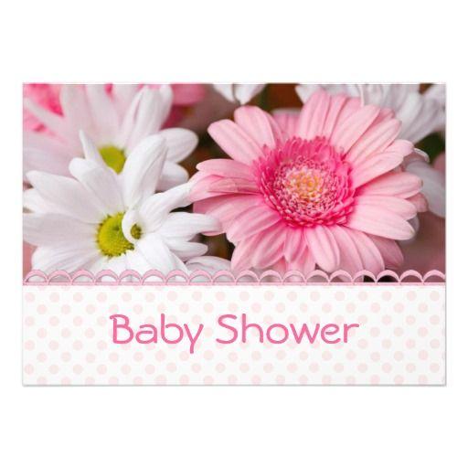 Pretty Pink Daisy Baby Shower Invitation