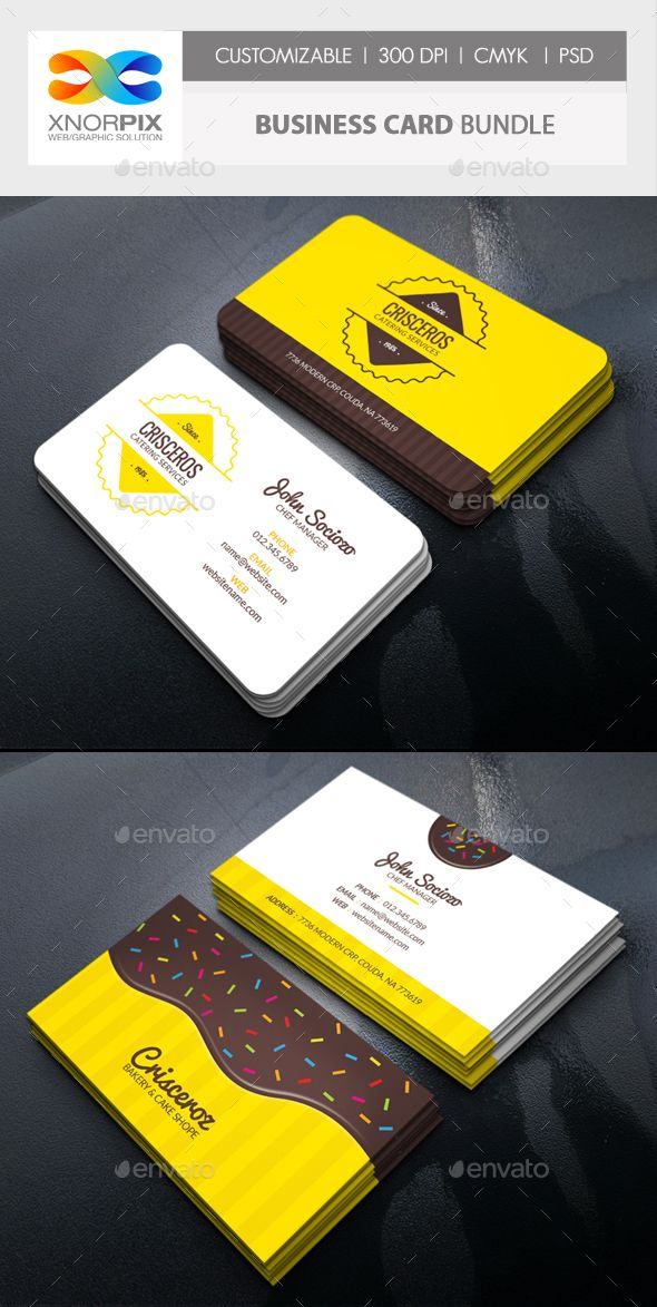 Business Card Bundle Catering Business Cards Business Cards Layout Free Printable Business Cards