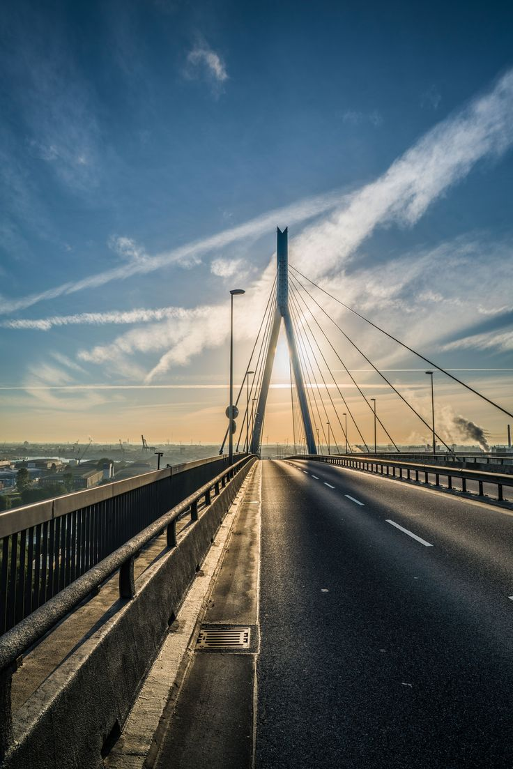 Foto aus Hamburg Köhlbrandbrücke Sonnenaufgang | Bildschönes Hamburg