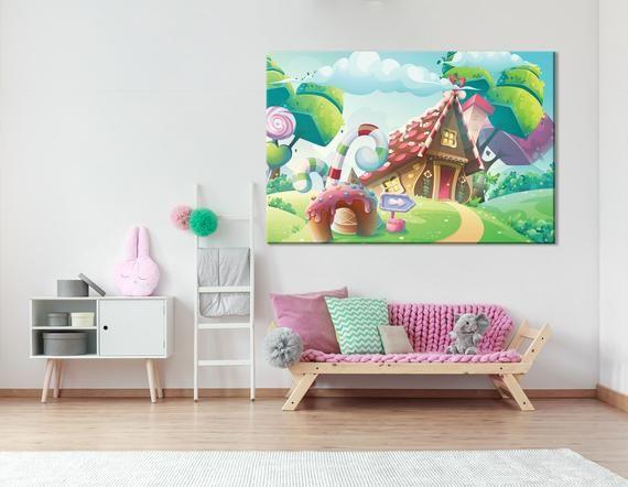 Pin By Extra Large Wall Arts Elwa St On Nursery Decor Art Wall Kids Candy House Wall Art