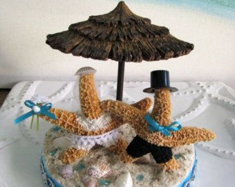 Coral Reef Beach Wedding Cake TopperBeach by CeShoreTreasures