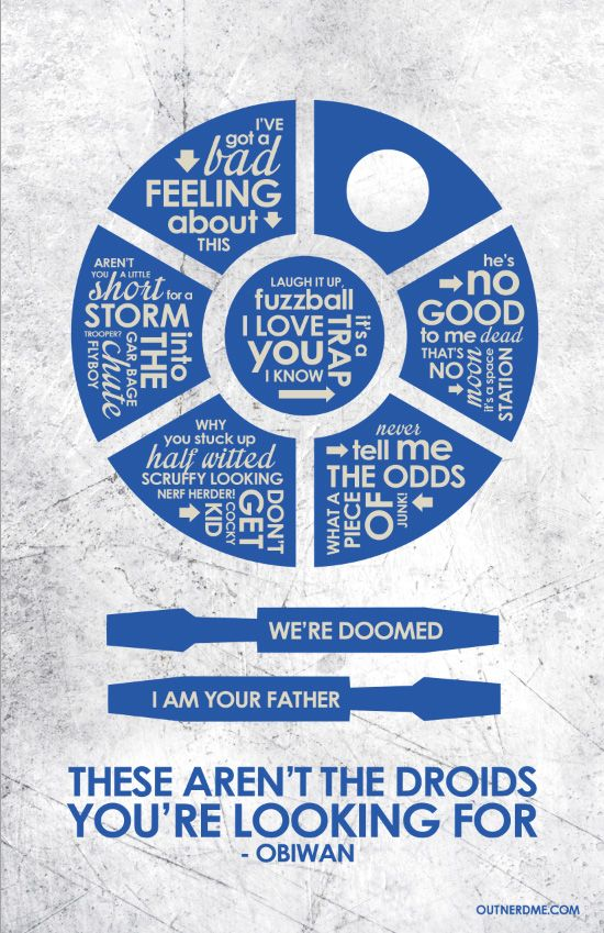 Star Wars Quote Poster #r2d2 #star #wars