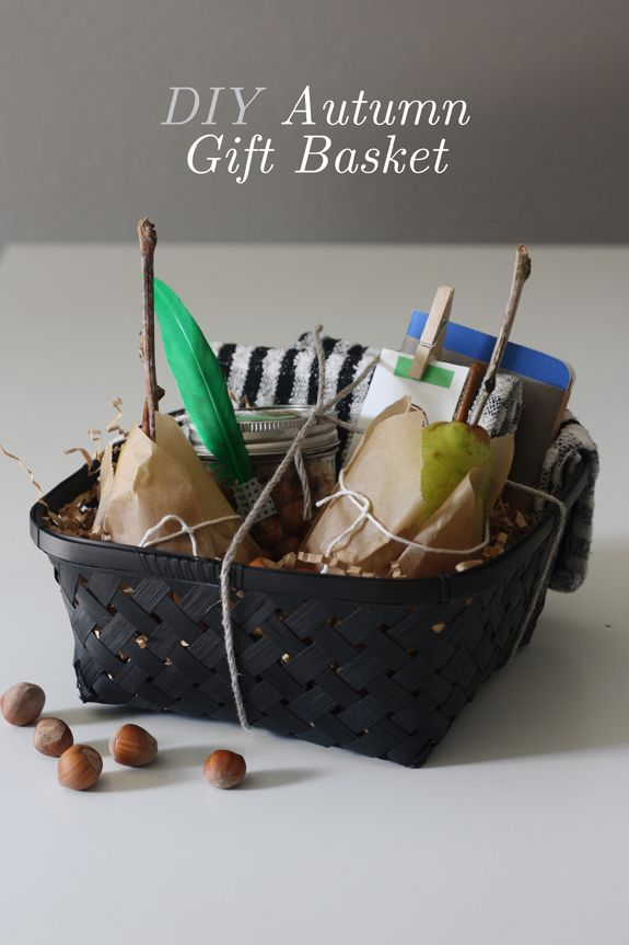 253 best gift ideas images on pinterest christmas presents gift diy autumn gift basket but w caramel apples instead of pears negle Gallery