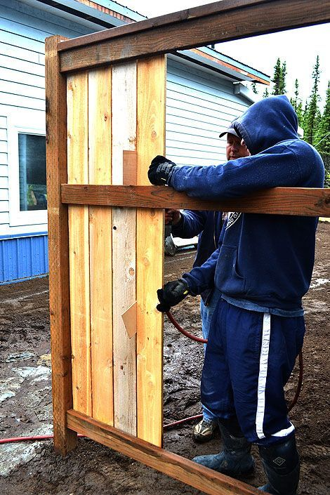 Here's the step by step plans so you can build your own fence! DIY Furniture Plan from Ana-White.com  How to build fences! Free DIY tutorial to save half the cost of fence panels! THIS SITE HAS FREE PLANS AND DIY BUILDING ADVICE & IS AMAZING! building furniture building projects