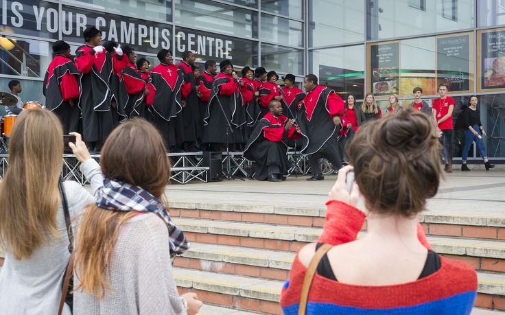 There was entertainment on the DMU steps as part of Welcome Weekend's celebrations.