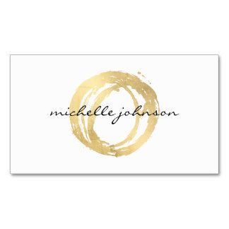 Luxe Faux Gold Painted Circle Designer Logo Business Card                                                                                                                                                                                 More