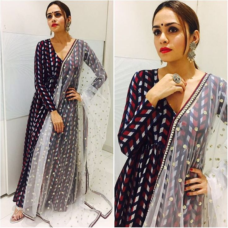 "4,699 Likes, 23 Comments - @afashionistasdiaries on Instagram: ""@amrutakhanvilkar  Outfit - @riashah95  Jewelry - @houseofshikha  Styled by - @sayali_vidya…"""