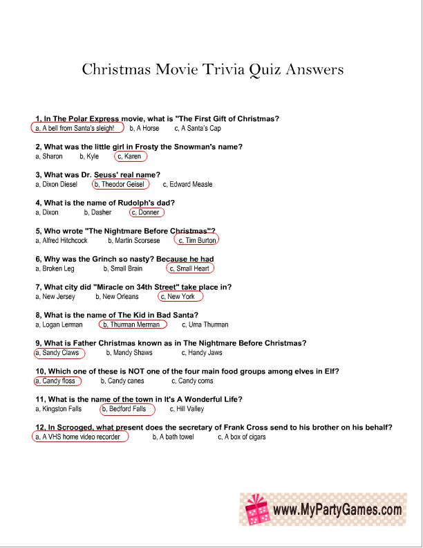 Christmas movie trivia quiz answer 612 792 for Table quiz questions and answers