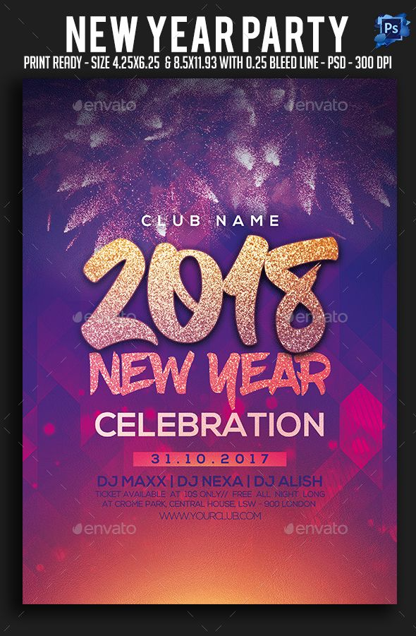 299 best New Year Party Flyer Templates images on Pinterest - event flyer templates