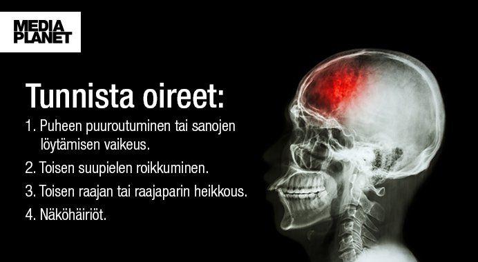 Tunnistatko aivoverenkiertohäiriön? Lue lisää: http://ow.ly/sCGj308isGE