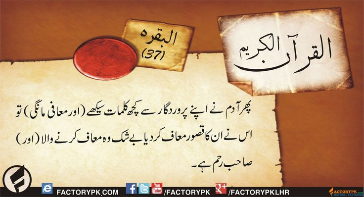 Read beautifully designed Surah Al-Baqrah 37. Also read Complete Quran in Urdu. Islamic Quotes, Urdu Quotes, Sayings of Quran and more.