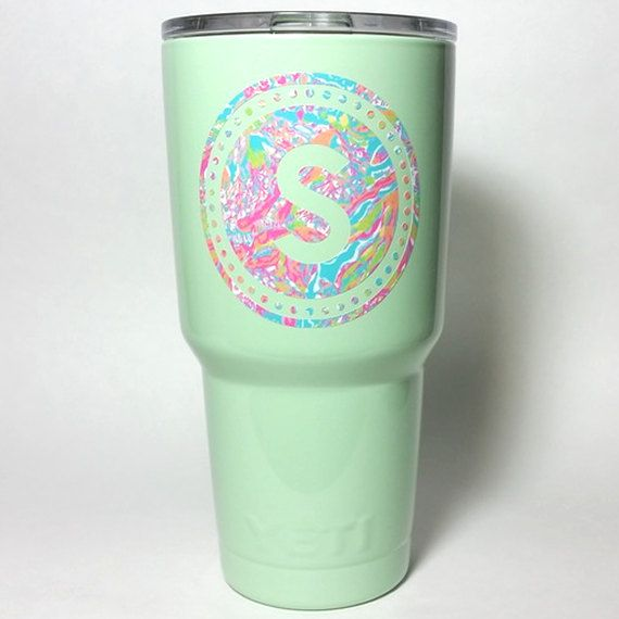 Powder coated Yeti cup  Seafoam Green  30 oz by sweetfairyboutique