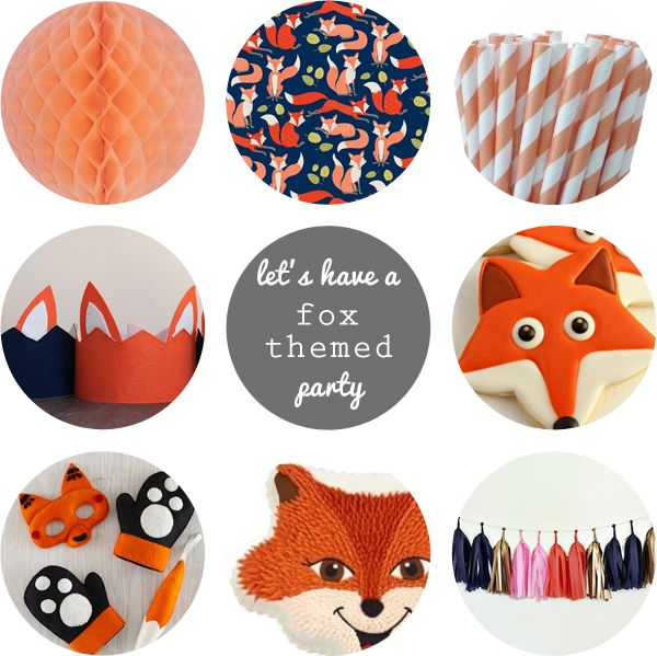 Oleander and Palm: Let's have a Fox Themed Party