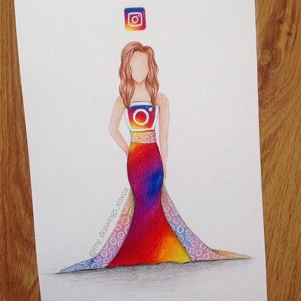 Instagram Logo Dress By @my_drawings_xoxox _ @arts.display by arts__gallery
