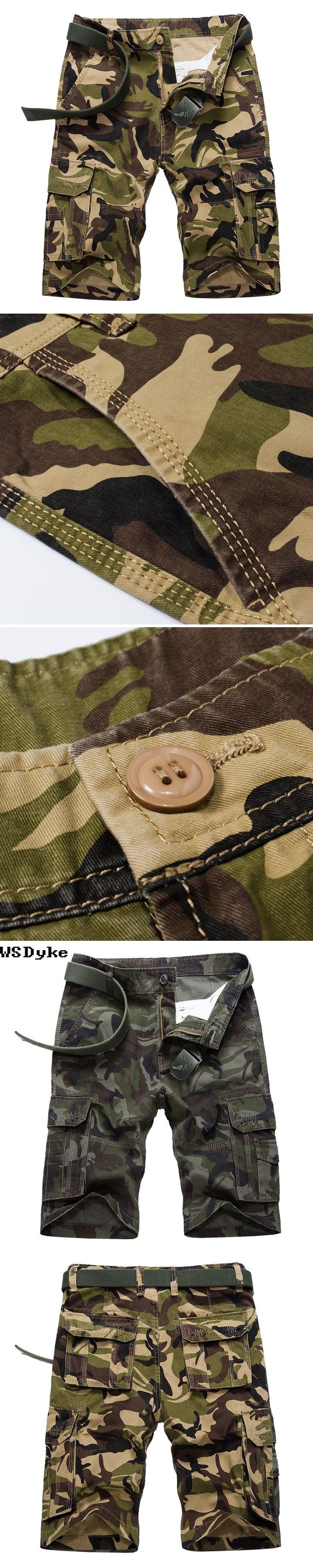 2017 Summer New Fashion Loose Pantalones Cortos De Los Hombres Good Quality Multi Pockets Camouflage Shorts