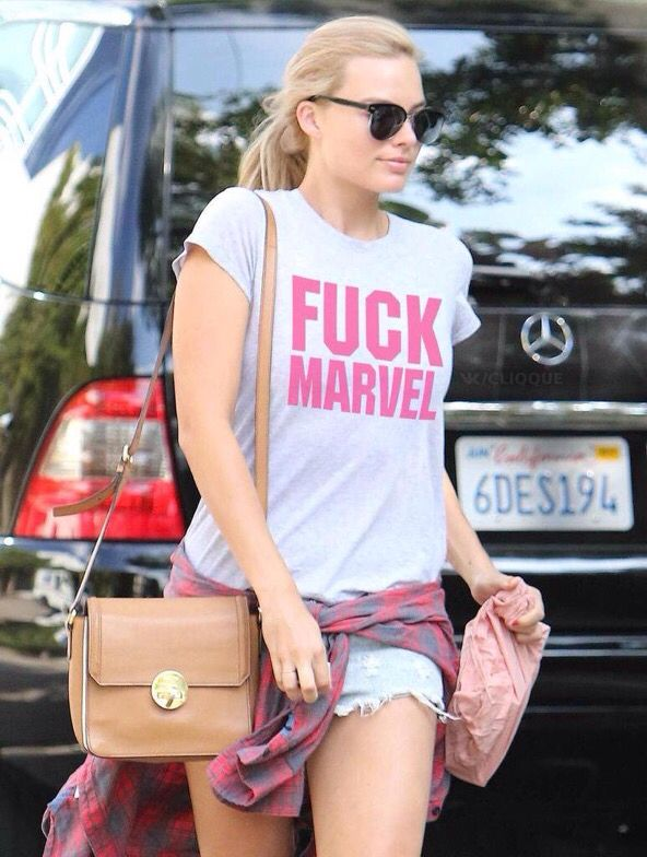 Margot Robbie it's only acceptable for her to wear this.... Because I love her