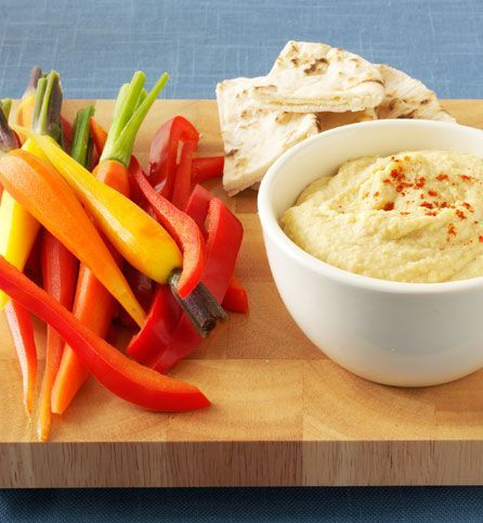 Snack smart! Enjoy this Ranched-Up Hummus Dip recipe with your favorite sliced veggies.