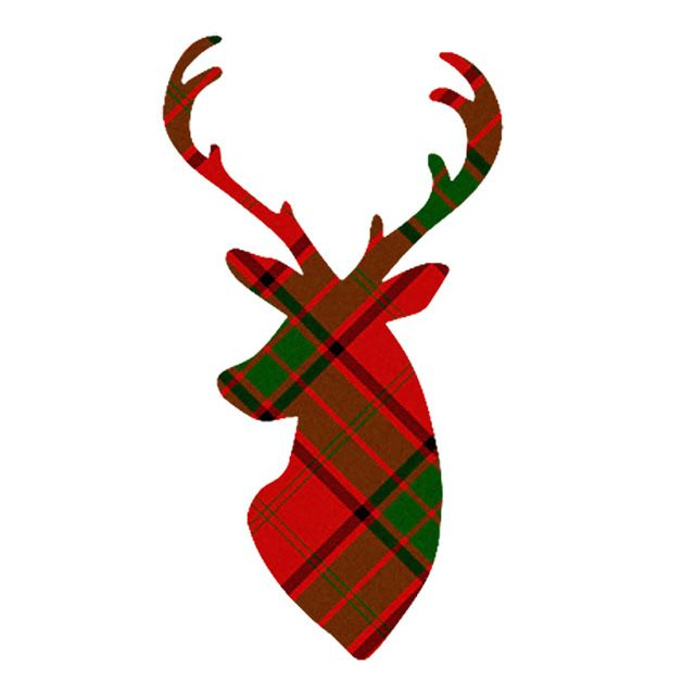 Cute Plaid Deer Clip Art. Click through for a bunch more!