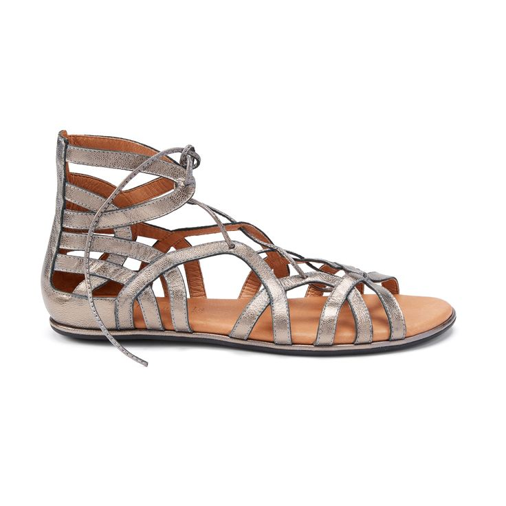 Introducing Stitch Fix Shoes: Metallic Lace-Up Sandals