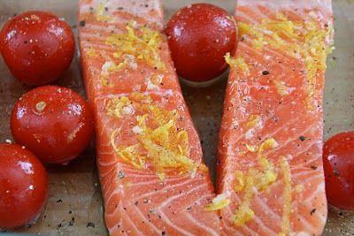 Mat På Bordet | Sitron bakt laks med erte/basilikum mos – gjort på en halv time!