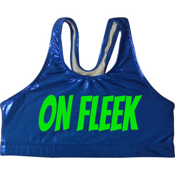 On Fleek Metallic Sports Bra Cheerleading Yoga Running Working Out ($25) ❤ liked on Polyvore featuring activewear, sports bras, black, women's clothing, black sports bra, athletic sportswear, sports bra, metallic sports bra and yoga activewear
