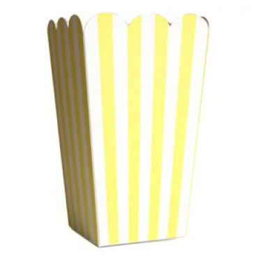 Treat Boxes Lemon Stripe - Party Shop :: Big Dreams