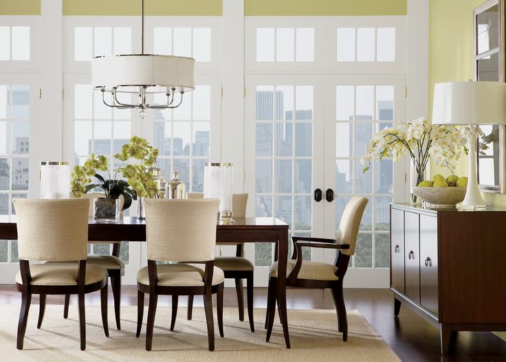 The Barrymore Dining Table And Drew Chairs From Ethan Allen.
