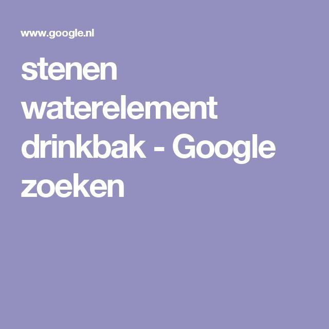 stenen waterelement drinkbak - Google zoeken