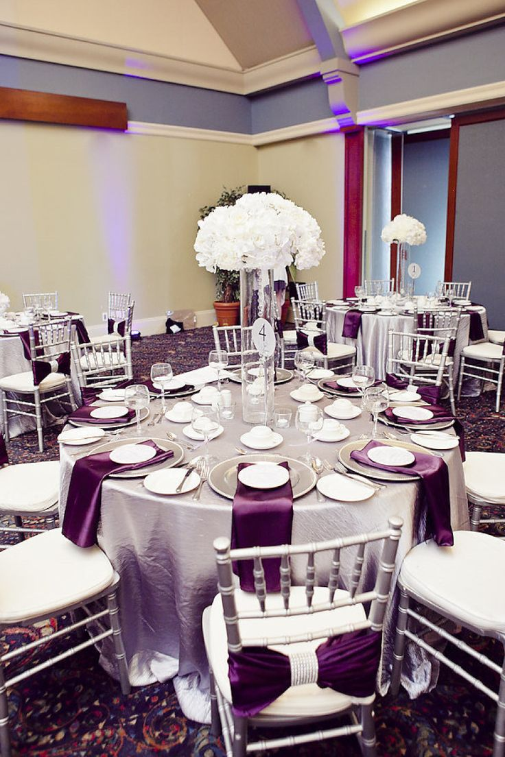 25+ best ideas about Purple and silver wedding on ...