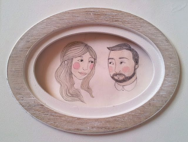 Pencil and watercolour portrait for a wedding present last year. The likeness is uncanny I assure you!