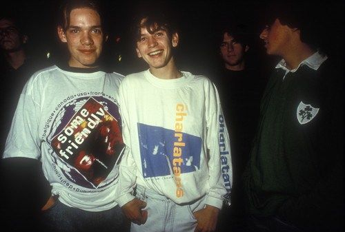 Two boys in oversized indie T-shirts, Manchester 1990s