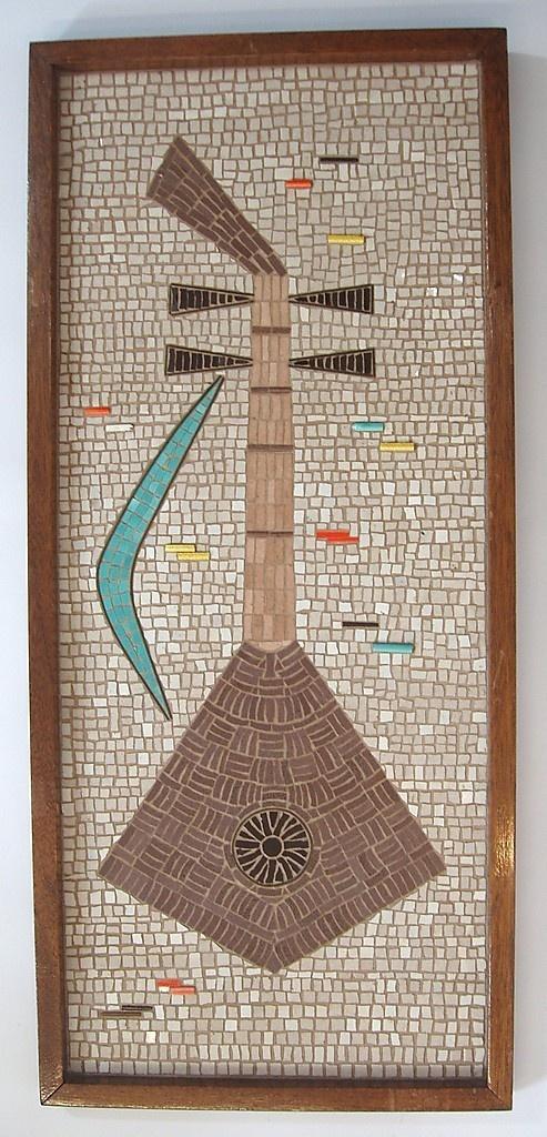 Mid Century Mosaic Vintage Universe Mosaic Mosaic