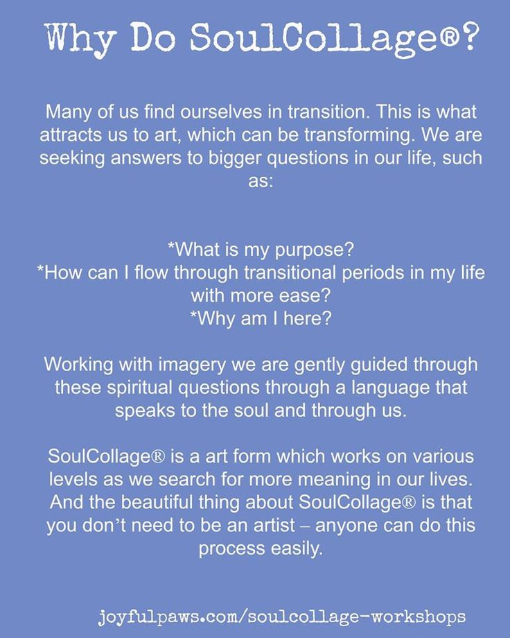 Why Do SoulCollage?Dialoging with my Inner Committee and my Higher Power