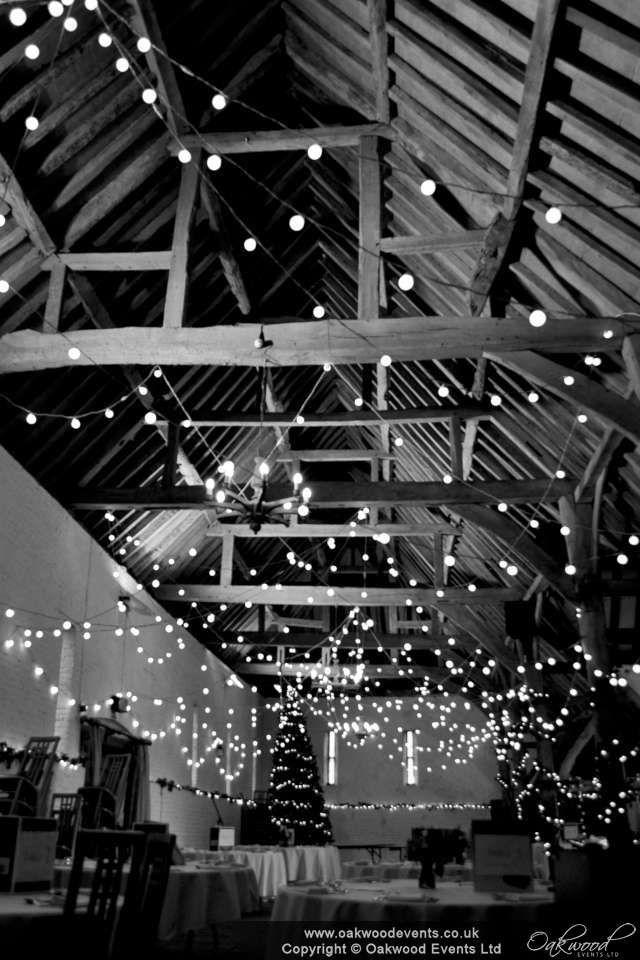 Random loops festoon design in the Ufton Court barn for a winter #wedding