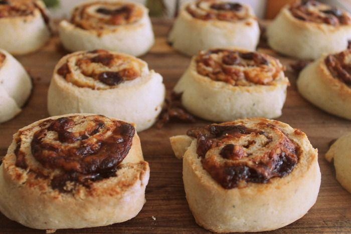 Gluten Free Cheesy-Mite Scrolls!  Big Batch!  Lunchbox/Freezer Friendly!