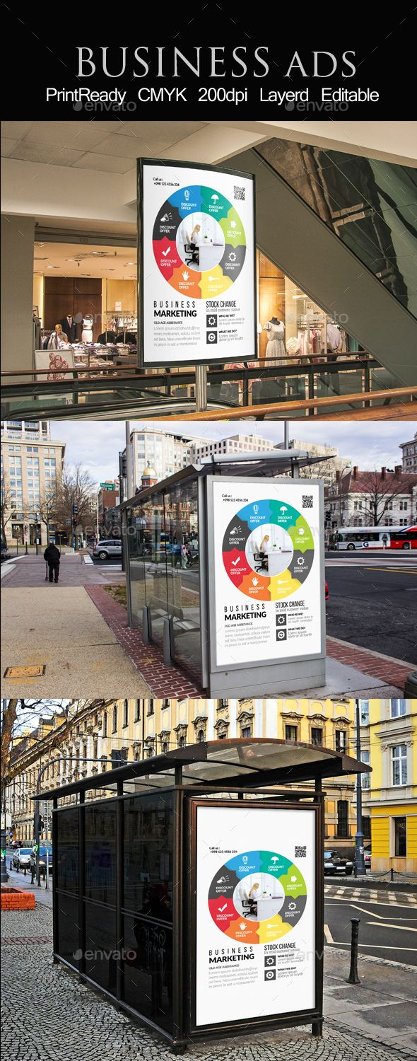 promotion bus stop banner ad template business promotion bus stop banner ad template