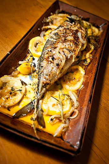 Roasted Mackerel w/ Lemon & Herb