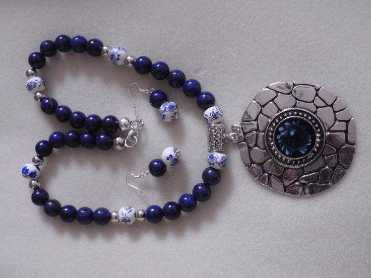 Lapis Lazuli, Collar lapislazuli, Collar para Mujer, Collar,collar en gemas, gemas lapislazuli, porcelana pintada de PekitasCreations en Etsy