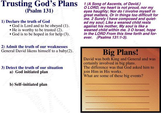 Psalm 131-trusting God's plan