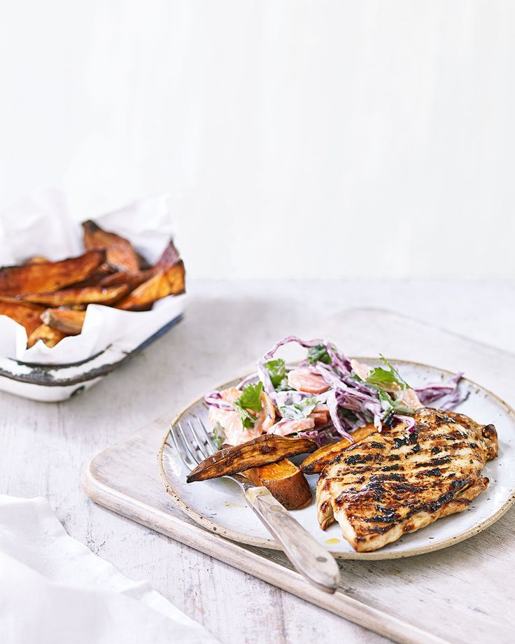 Give chicken a new lease of life with teriyaki flavours, a crunchy slaw and healthy chips – this quick and easy family favourite can be enjoyed any night of the week.