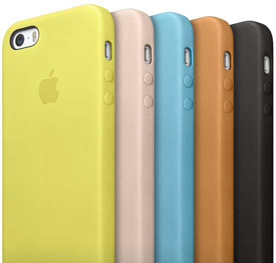 Apple-made leather cases for the iPhone 5s.
