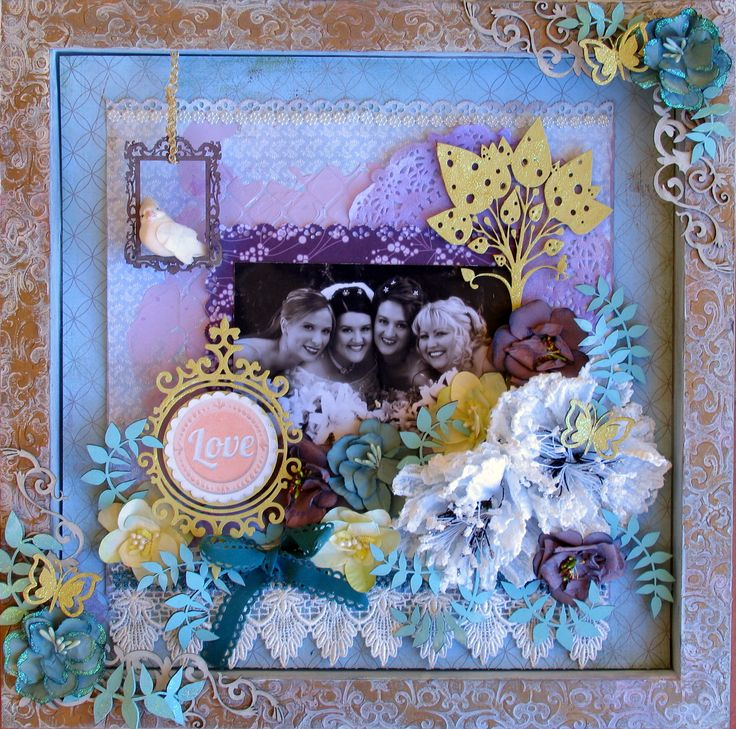 Manor house flowers and Twiddleybitz chipboard