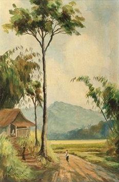 Frans Bakker, Pemandangan Jawa, Bandung