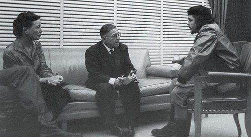 Simone De Beauvoir, Jean Paul Sartre and Che Guevara
